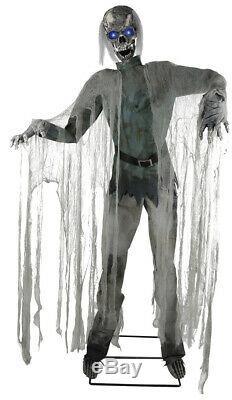 Life Size Animated Twitching Zombie Halloween Prop Haunted House Decor Spirit