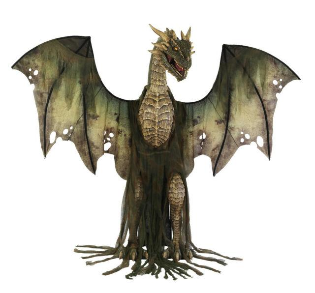 Life Size Forest Dragon Animated Halloween Prop Haunted Decor Spirit Outdoor Got
