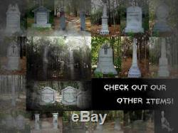 Lighted Haunted Hill Cemetery 2 Sided Entrance Sign Halloween Prop Evil Soul
