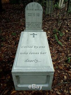 Little Annie Bates Tombstone and Coffin Crypt Graveyard Cemetery Halloween Prop