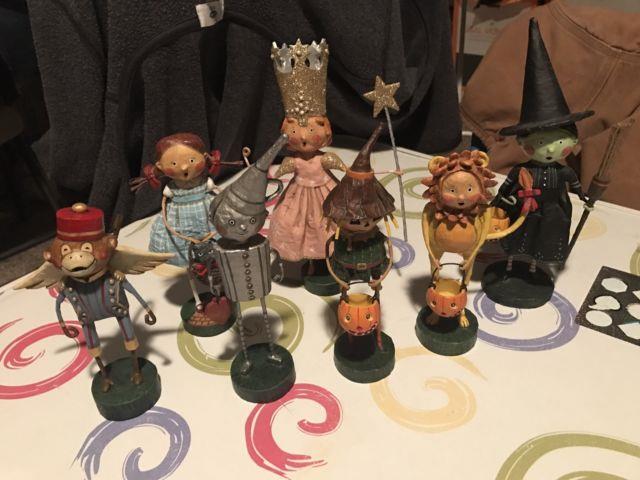 Lori Mitchell Set Wizard Of Oz Dorothy Glinda Lion Tinman Scarecrow Monkey Witch