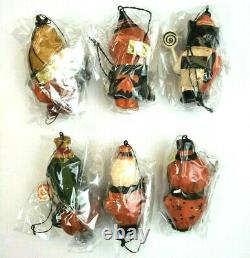 Lot of 6 Greg Guedel Bethany Lowe Pumpkin Monster Candy Halloween Orange Black