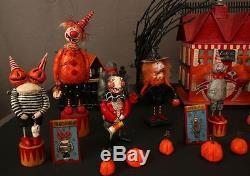 Lot of Kim Hardt Original Halloween Figures and House OOAK Paper Mache