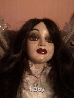 Luna Daughter Count Mora Dracula Vampire 2' Porcelain Doll Ooak Zombie Prop