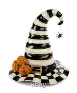 MACKENZIE CHILDS Courtly Check Stripe WITCHS HAT Halloween Pumpkin NEW Ret$150