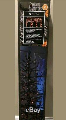 MEMBERS MARK 7ft Pre-Lit Animated black Halloween Tree NEW