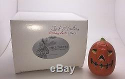 Mib Vaillancourt Chalkware 2011 Grinning Jack O Lantern Pumpkin
