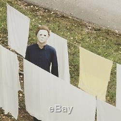 Michael Myers Clown Mask Costume Halloween H1 Scavenger Hunt Collectible Props