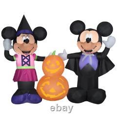 Mickey and Minnie Pumpkins-Scene-Disney Halloween Self-Inflatable Decoration
