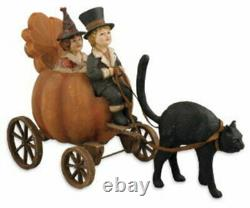Morgue SaleRare Pumpkin Carriage Ride by Bethany Lowe Mint New in Box Retired