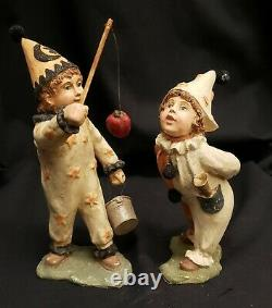 Morgue Sale Bethany Lowe Trick or Treater Pair Apple Game Retired 2008 NEW