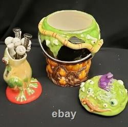 Morgue Sale Department 56 Halloween BrewPot Fondue Set of ten Retired 2007 Mint