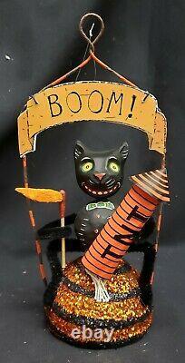 Morgue Sale Glitterville WHERE'S THE CAT ornament Mint Condition Retired 2005