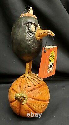 Morgue Sale Halloween David Everett GRUMPY CROW Figurine Retired 2012 MINT