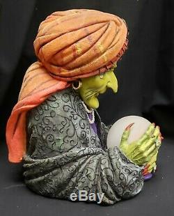 Morgue Sale Halloween Dept 56 GYPSY Fortune teller withLED lite Retired 2008