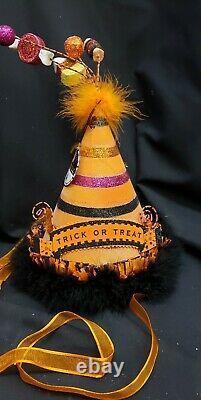 Morgue Sale Halloween Glitterville Party Fashion Hats/Centerpieces set/4 MINT