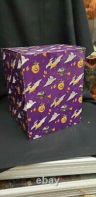 Morgue Sale Halloween Heather Goldminc Pumpkin Punch / Candy Bowl Retired 2004