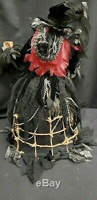 Morgue Sale Katherine's Collection 20 Wicked Wicker Witch Retired 2012 MINT