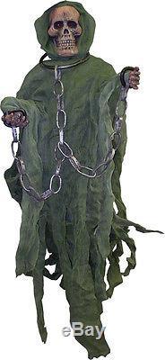 Morris Costumes Hanging Green Hooded Reaper 60. FW91015T