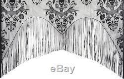 Morris Costumes Lace Decor Halloween Damask Curtain. MR112067