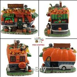 NEW 2019 Lemax Spooky Town Pick Me Pumpkin Wagon Lighted Halloween Table Decor