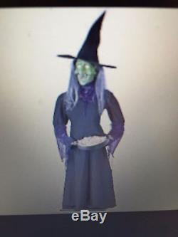 NEW Halloween 5 1/2' Life Size Sound and Motion Activated Witch With Candy Dish
