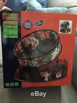 NEW Lemax Spooky Town Ghost Around Carnival Ride Halloween
