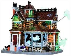 NEW Retired Lemax Spookytown Last House On The Left #35548 Halloween Animated