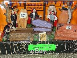 NIB Lemax Spookytown Ultra Rare Retired & Discontinued From 2010 Coffins R Us