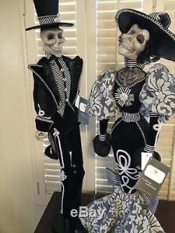 New Katherine's Collection Halloween Skeleton Doll Rosario