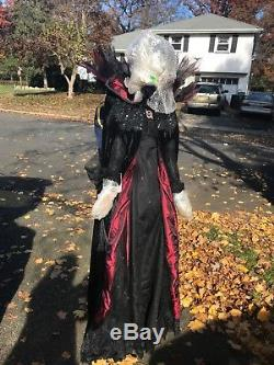 New Katherine's Collection Temptress Sorceress Doll Witch Halloween 6 Feet Tall