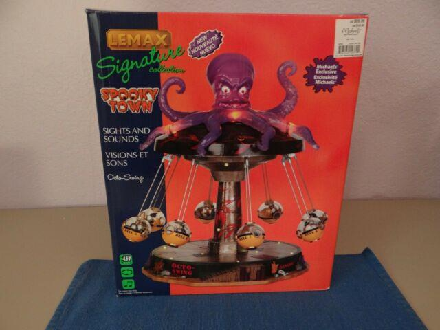 Octo-swing Signature Collection/spooky Town Lemax (brand New & Rare)
