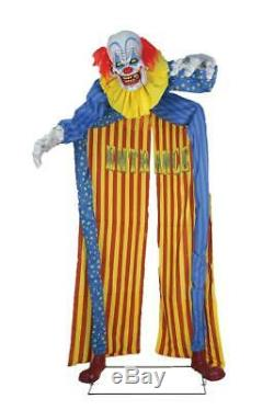 PRE-ORDER LifeSize 10' LOOMING CLOWN Animated Haunted Halloween Archway Prop