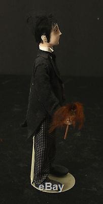Pasty White Butler In Service to a Haunted Doll House OOAK Sculpted Polymer Clay