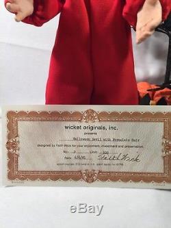 Porcelain doll BOY IN HALLOWEEN DEVIL COSTUME, Faith Wick Originals COA 2/100