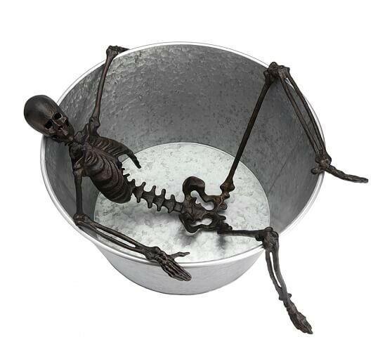 Pottery Barn Halloween Extra Large Walking Dead Skeleton Bath Party Bucket