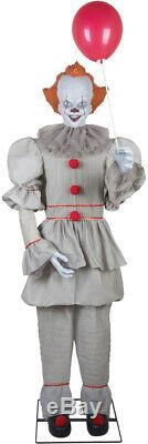 Pre-order Halloween Life Size Animated Pennywise It Clown Prop Stephen King
