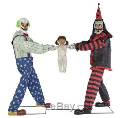 Pre-order Halloween Life Size Animated Tug Of War Clown Prop Decoration