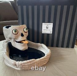 RARE Department Dept 56 Halloween Skull Chip & Dip Eyeball Frankensteins Lab
