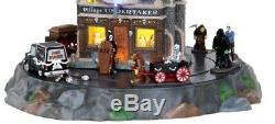 RARE Lemax Spooky Town Colection Village Undertaker Set 9pc Halloween Decor Gift