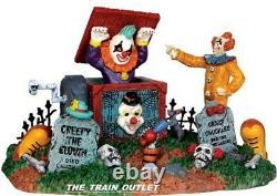 RARE Lemax Spooky Town Halloween Carnival Jack In The Box Retired 33021 NIB B5