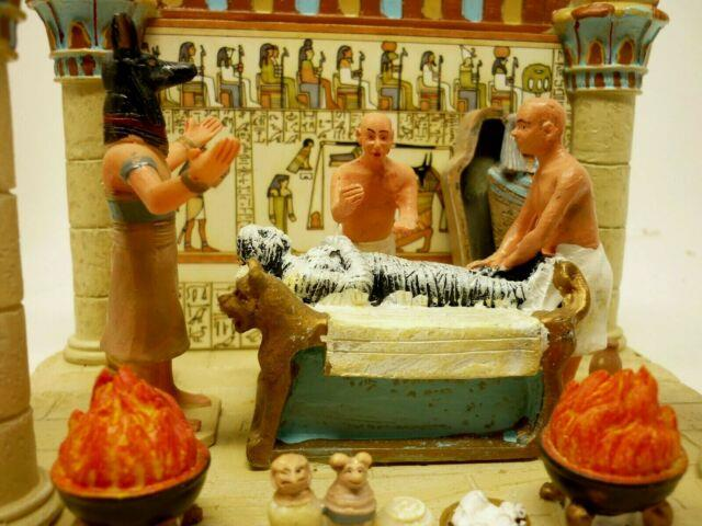 Rare Lemax Spooky Town Mummification Chamber 93728, Halloween Egyptian With Box