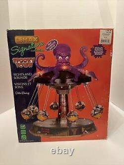 RARE RETIRED Lemax Spooky Town 2011 Octo-Swing Halloween Carnival Ride NIB