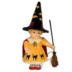 RETIRED Bethany Lowe Trick Or Treat Little Witch Girl Retro Vntg Halloween Decor