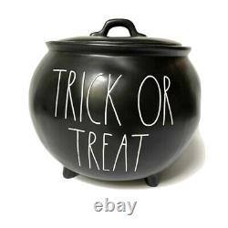Rae Dunn by Magenta Halloween TRICK OR TREAT Cauldron Black 2020 New Release HTF