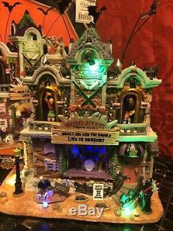 Rare 2012 SPOOKY TOWN Halloween Village HEEBIE-JEEBIES ROCK CLUB Lemax SEE VIDEO