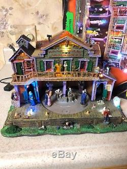 Rare Lemax Spooky Town Halloween Jamboree Animated Music Eerie Voices