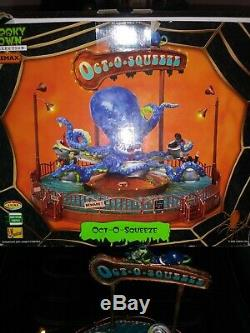 Rare Lemax Spooky Town Halloween Octo Squeeze Carnival Ride