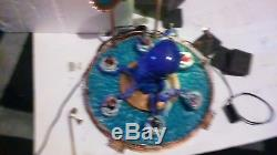 Rare Lemax Spooky Town Halloween Octo Squeeze Carnival Ride. As Is