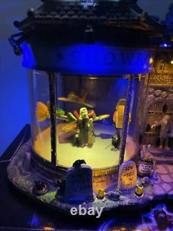 Rare Lemax Spooky Town Wicked Fast Broomsticks RETIRED Witches animated sounds